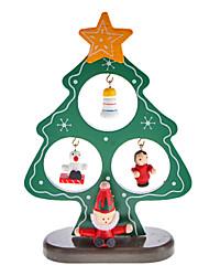 Bois d'arbre de Noël Père Noël de Bell permanent Desk Top Décorations Paquet