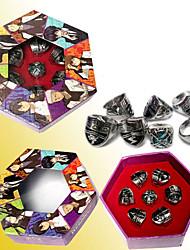 Reborn! 7 estilos aleado juego de anillos