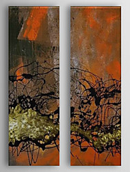 Hand Painted Oil Painting Abstract Syrup with Stretched Frame Set of 2 1310-AB1223