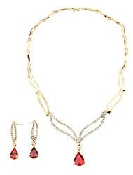 Cristal élégant collier creux Water-Drop & bijoux boucles d