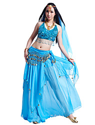 Belly Dance Outfits Women's Chiffon Beading / Coins / Sequins