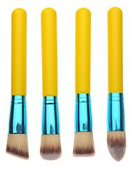 4PCS Yellow Handle Foundation Make-Up Brush Set