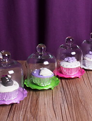 Table Centerpieces Cupcake Set With Glass Dome   Table Deocrations (More Colors)