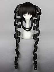 Pelucas de Cosplay Dangan Ronpa Celestia Ludenberg Negro Largo Anime/Videojuego Pelucas de Cosplay 80 CM Fibra resistente al calor Mujer