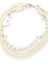 European Style Pearl Multilayer Necklace(Assorted Color)