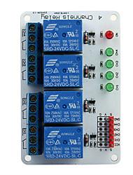 4-канальный 24v релейный модуль расширения ввода для (для Arduino)