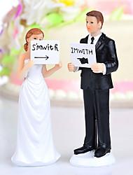 """toppers gâteau """"je suis avec elle / lui"""" mariée& marié de gâteau"""