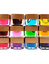 12PCS 12-color UV Color Gel Top Coat Glaze Effect(8ML,Random Color)