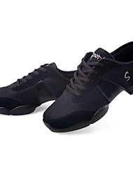 Leather&Fabric Upper Dance Shoes Ballroom Modern Shoes Dance Sneakers for Women