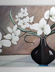 Hand Painted Oil Painting Still Flowerpot Life with Stretched Frame 1310-ST1061