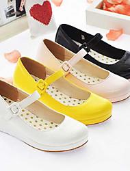 Candy Girl PU cuña de 3 cm Zapatos Lolita Dulce