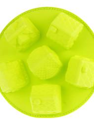 Casa DIY molde de la bandeja (verde)