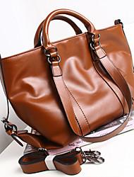 Madame vintage en cuir PU emballage / sac à bandoulière (Brown)