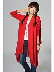 ts ethnique chinois couleur d'écoulement de style asymétrie ourlet survêtement de cardigan