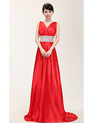 Women's Dresses , Satin Party/Work Four-Season Trees