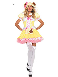 Bonito Panada Menina amarela Polyester Maid Uniform