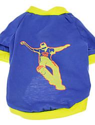 T-shirt - Chiens - Eté Bleu - en Coton - XS / M / S / L