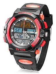 Men's Analog-Digital Multi-Function Rubber Band Quartz Analog Wrist Watch (Assorted Colors)