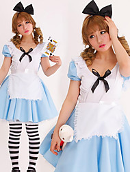 Rabbit Alice Blue and White Women's Costume