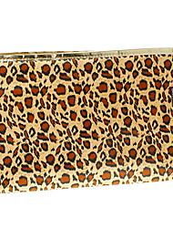 Patrón del leopardo bolso cosmético