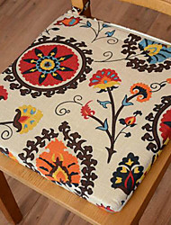 Modern Style 100% Cotton Multi-color Floral Pattern Chair Pad