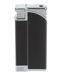 Fashion Windproof Butane Lighter / Tricky Joke toy (Black,Silver)