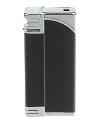 Мода ветрозащитный бутан зажигалка / Tricky Шутка игрушки (черный, серебристый)