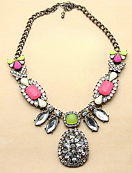 Fashion Alloy With Rhinestone Womem's Necklaces