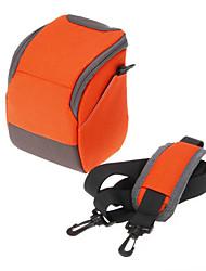 B-01-OR Orange/Red/Green Crossbody One-Shoulder Camera Bag for DSLR Camera