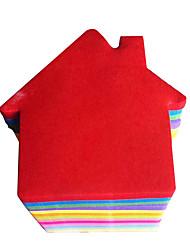 Maison en forme d'auto-Sticker Note (2 PCS couleur aléatoire)