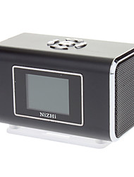 Portable Speaker stereo in metallo con slot per TF card (nero)