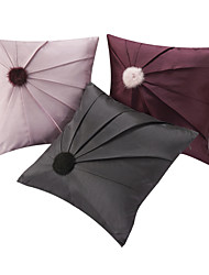 Set of 3 Modern Fluffy Ball Patchwork Polyester Decorative Pillow Cover