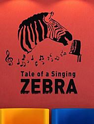 Conto de uma coisa da zebra Animal Wall Stickers