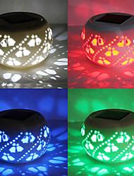 Modern Hollowed-Out LED Solar Powered Garden Light -Solar Table Light- Solar Small Night Light In Jar Design
