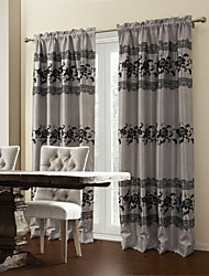 Two Panels Curtain Designer Polyester Material Curtains Drapes Home Decoration For Window