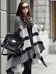 Women's Gray Cardigan , Casual Long Sleeve