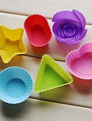Molde de silicone, 6 em 1, 3 polegadas para cada
