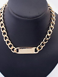 Fashion Alloy Chain Women's Necklace