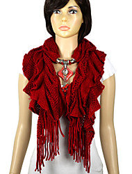 Woollen Winter Scarf With Jewellery Beads Pendants,Nl-2052A,B,C,D,E,F,G,H,I,J,K,L