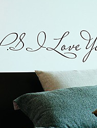 Words P.S Love You Wall Stickers