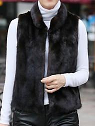 chaleco de piel con la almohadilla en mangas de imitación chaleco de piel de fiesta / noche (más colores)