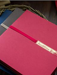 Convites de casamento Cartões de convite Dobrado de Lado Personalizado 50 Peça/Conjunto