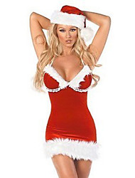 Noël Costume de Red Fluffy Tube Dress Women