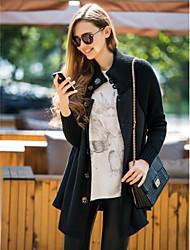TS Knitwear Splicing Wool Blend Coat