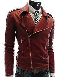 Men'S Multi Zipper Leather Jacket