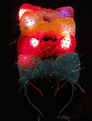 Orelhas de gato em forma de flash Barrette de incandescência por Animais de estimação Cães (cor aleatória)