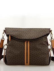 Café en cuir de PVC de OIMEI Femmes Haute Vintage Sac à bandoulière fonctionnelle de la qualité (L30cm * W11cm * H30cm)
