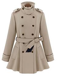 Women's Coats & Jackets , Cotton/Spandex Casual/Work Color Party