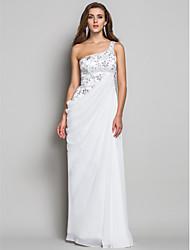 Formal Evening/Military Ball Dress - Ivory Plus Sizes Sheath/Column One Shoulder Floor-length Chiffon/Lace