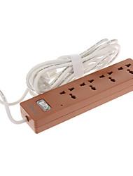 Socket Extension con 1,8 m de cable de alimentación de CA universal Amarillo